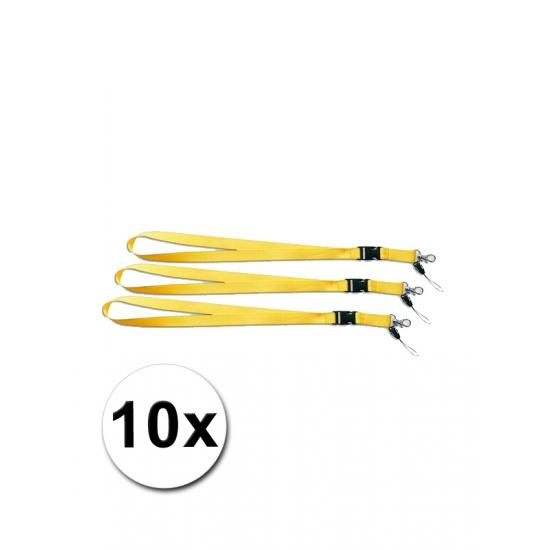 10 gele keycords 55 cm