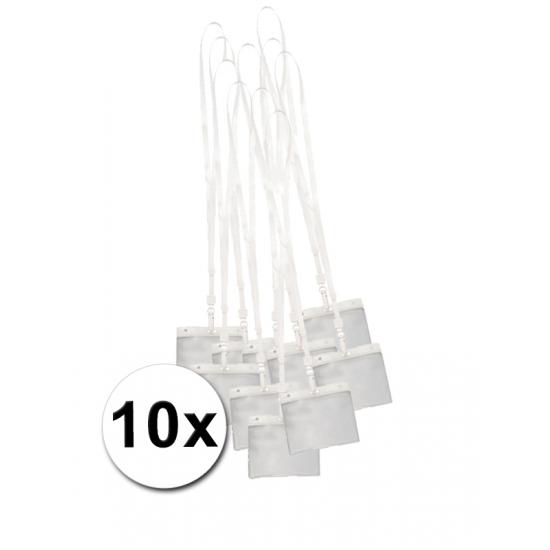 10 keycord naamkaarthouder voor beurzen 11,2 x 58 cm