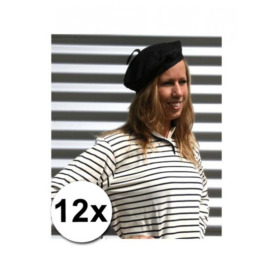 12x Franse hoedjes volwassenen 59 cm