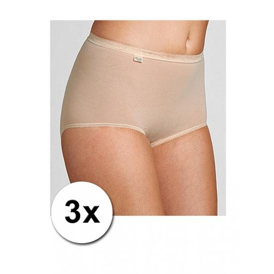 3 huidskleurige Sloggi dames onderbroeken