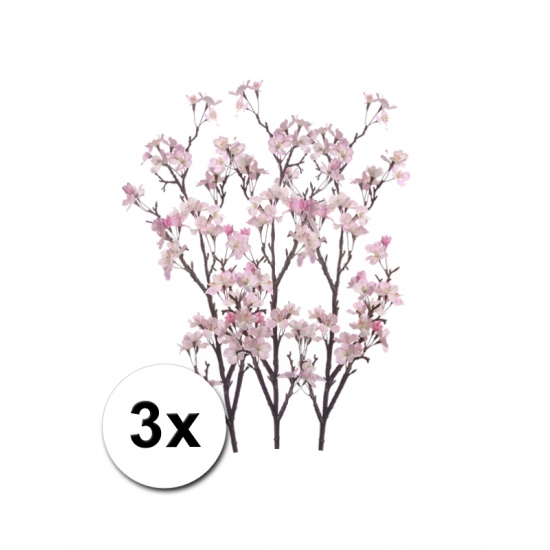 3x Namaak appelbloesem roze 104 cm