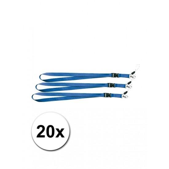 5 blauwe keycords 55 cm