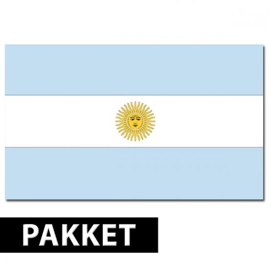 Argentinie feestartikelen pakket