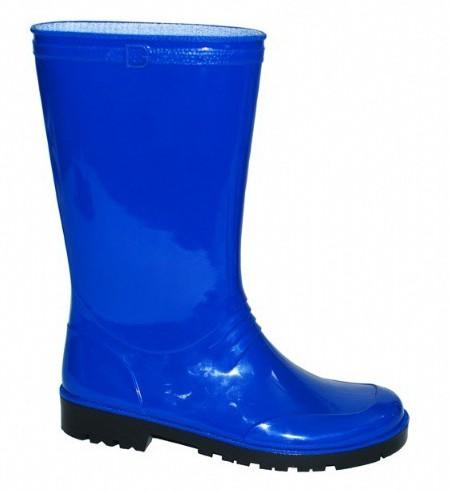 Blauwe pvc regenlaarzen voor dames