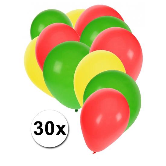 Boliviaanse feest ballonnen 30 st
