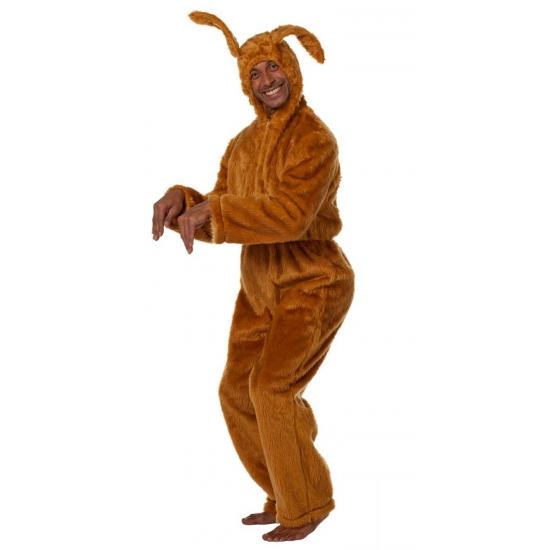 Bruine haas verkleedkleding voor volwassenen