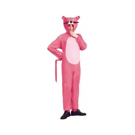 Carnavalskostuum roze panther voor volwassenen