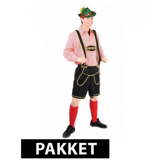 Compleet Oktoberfest kostuum maat 3XL heren