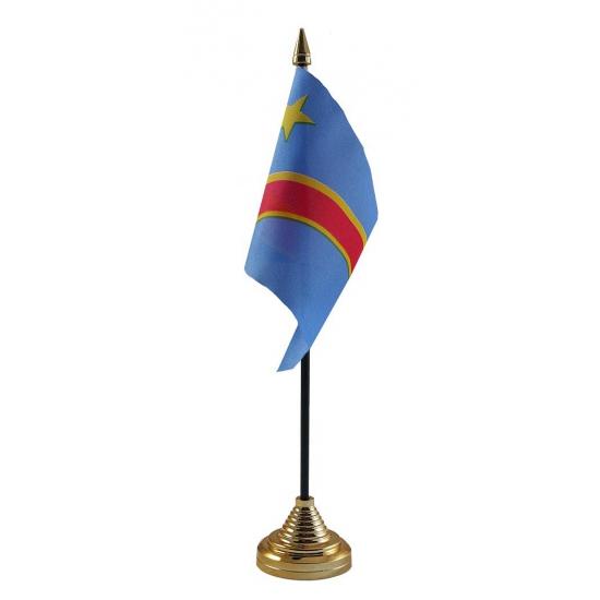 Congo tafelvlag met standaard