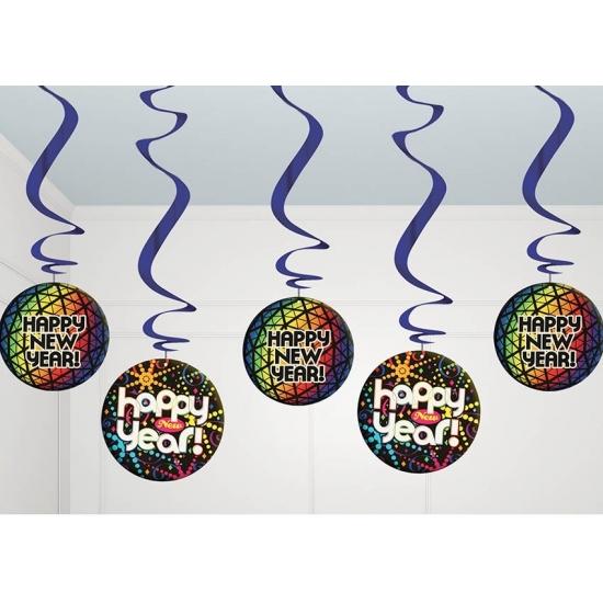 Discobollen hangdecoratie Nieuwjaar
