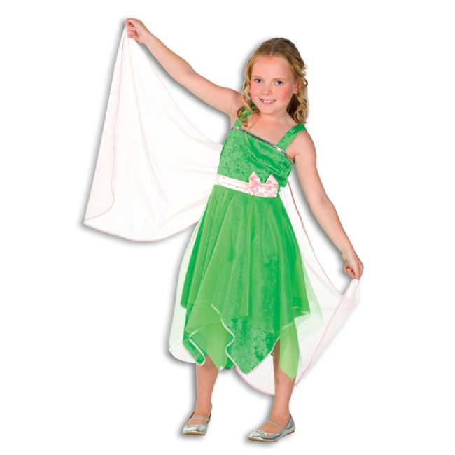 Elfjes jurkje met vleugels in groen