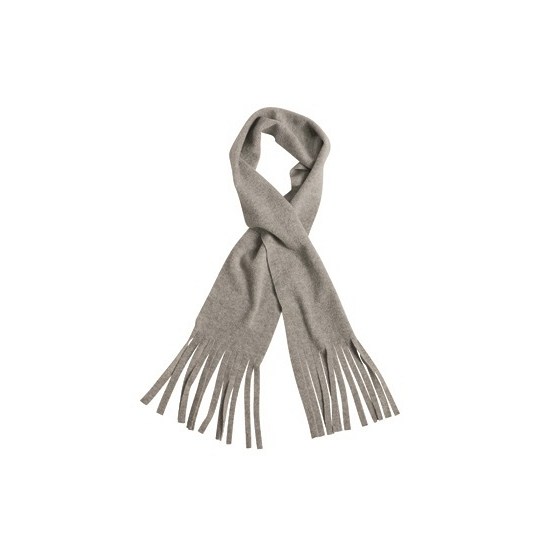 Fleece sjaal van polyester licht grijs
