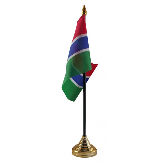 Gambiaanse tafelvlag met standaard