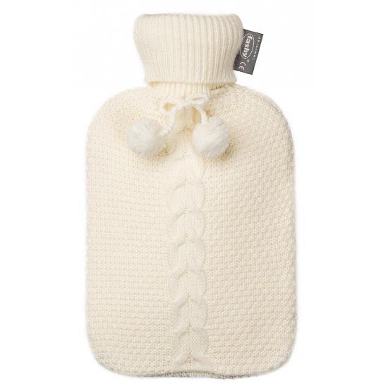 Gebreide witte kruiken 2 liter