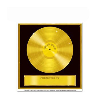 Gouden platen stickers