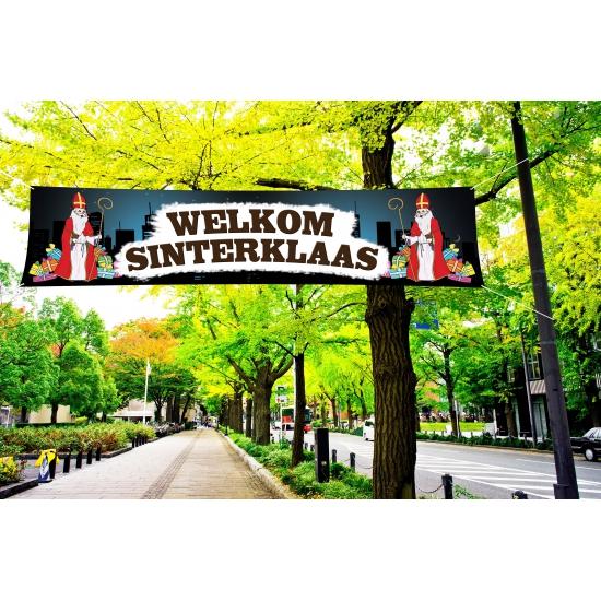 Groot Sinterklaas spandoek 200 cm