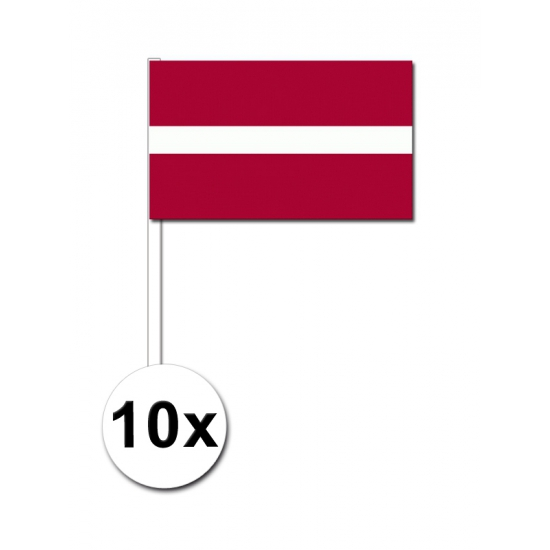 Handvlag Letland set van 10