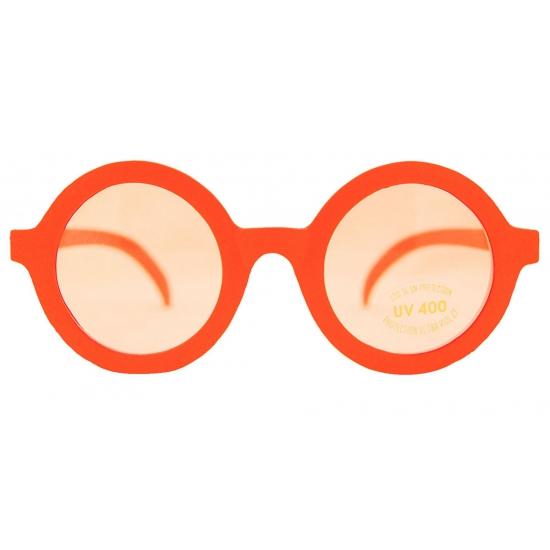 Harry bril met ronde glazen oranje