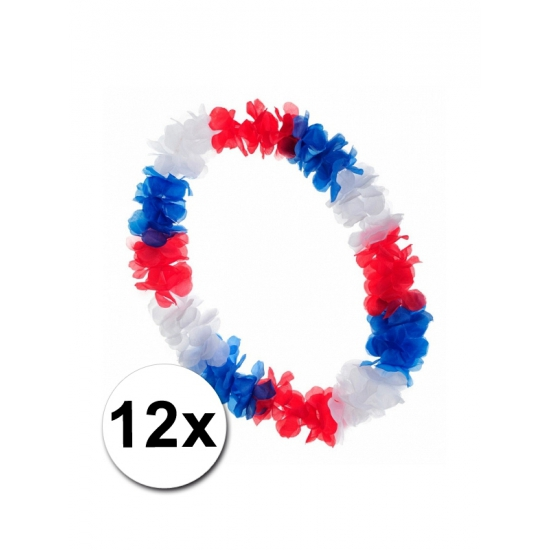 Holland bloemenkransen rood wit blauw 12x