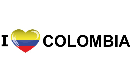 I Love Colombia stickers