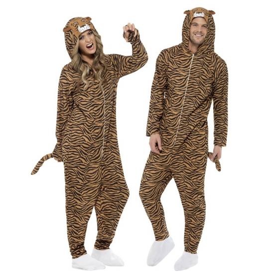 Jumpsuit tijger all-in-one voor volwassenen