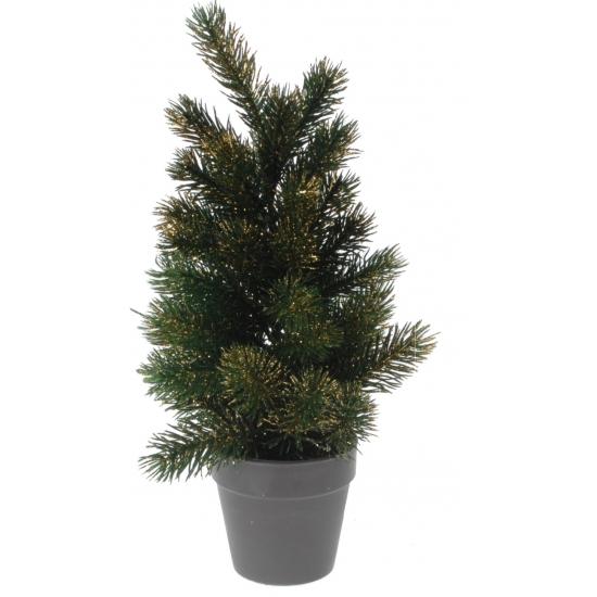 Kantoor kerstboom gouden glitters 40 cm