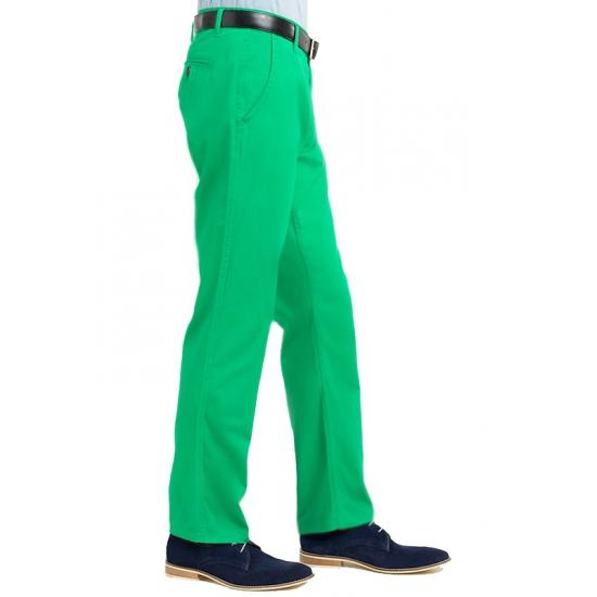 Katoenen broek groen voor hem