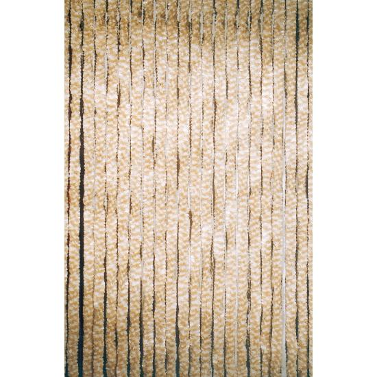 Kattenstaart deurgordijn beige 90 x 220 cm