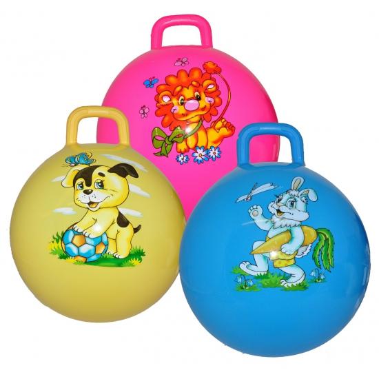Kinder skippyballen roze met leeuw