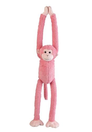Knuffel aapje roze 55 cm