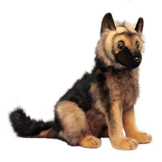 Levensechte pluche Duitse Herder pup 41 cm