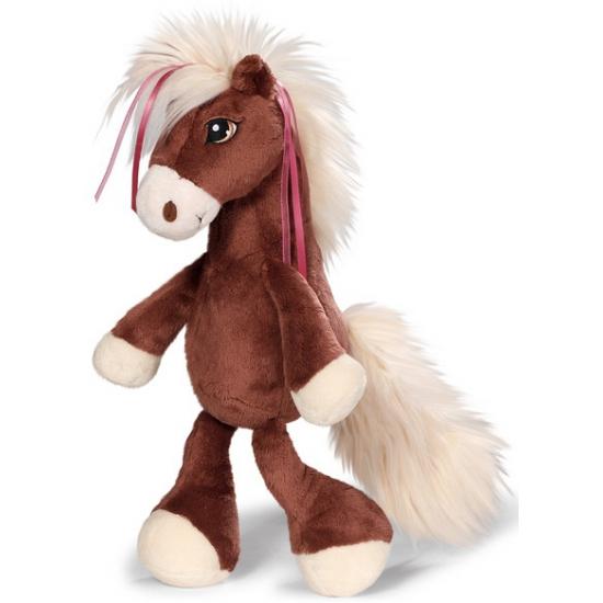 Nici donker bruin pluche paard 35 cm Alkmaar