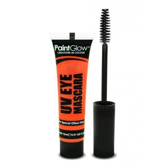 Oranje mascara make up