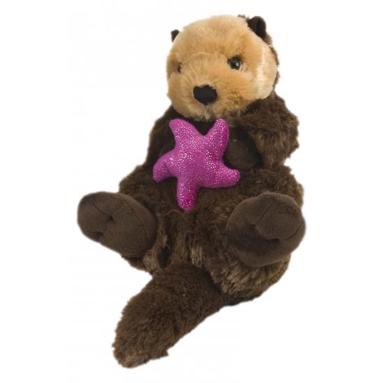 Otter met roze ster knuffel 38 cm