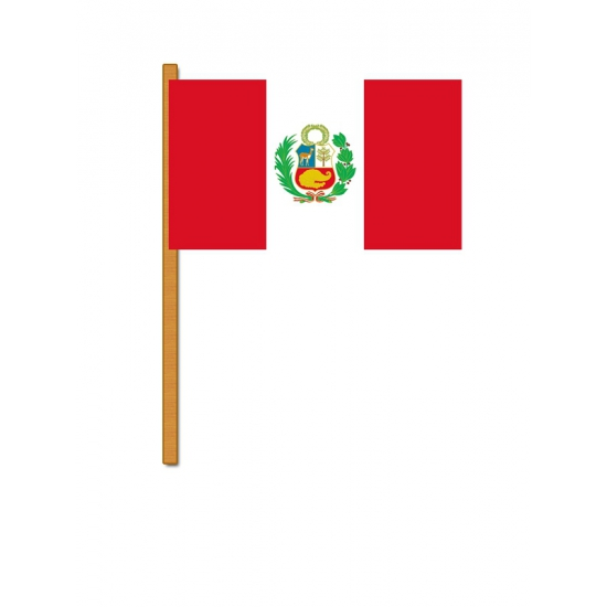 Peru zwaaivlaggen