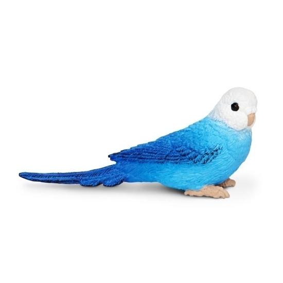 Plastic blauwe parkiet 7 cm