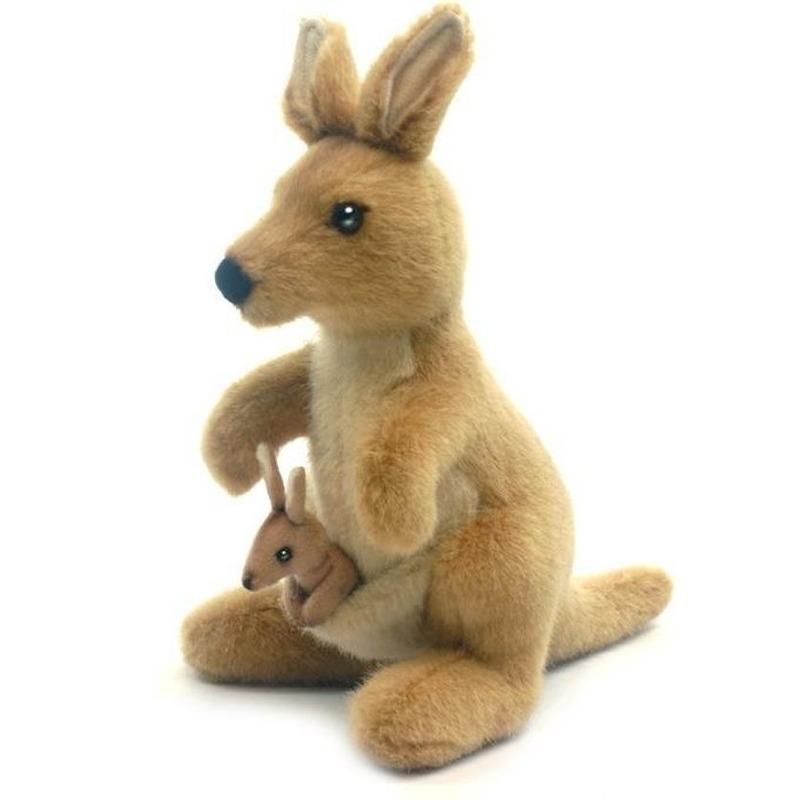 Pluche kangoeroe knuffel 20 cm