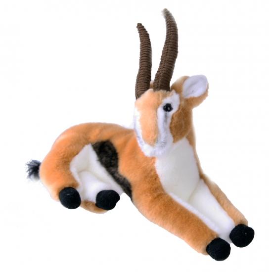Pluche liggende gazelle 30 cm