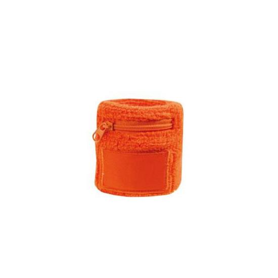 Polsbandje oranje met rits vakje
