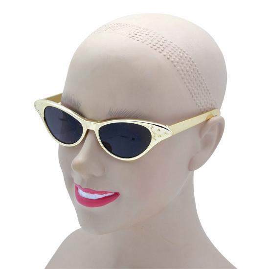 Rockabilly gouden zonnebrillen