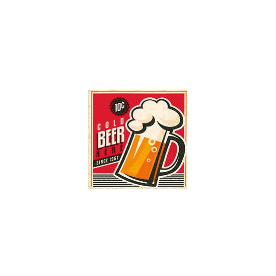 Servetjes met bier print