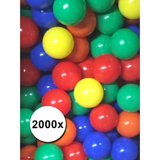 Speelballen voor de ballenbak 2000 stuks