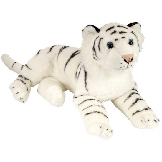 Speelgoed knuffel tijger wit 30 cm