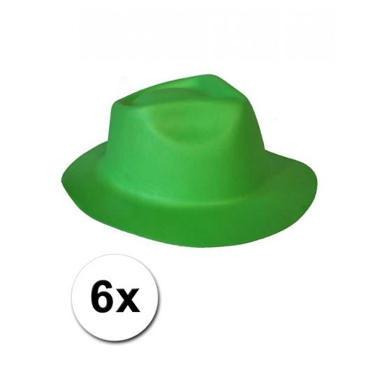 St. Patricksday hoedjes van foam 6x