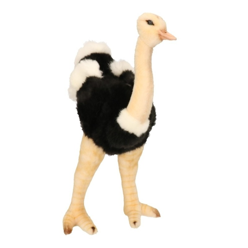 Staande pluche struisvogel 32 cm