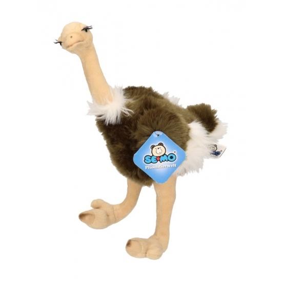 Staande pluche struisvogel knuffel 30 cm