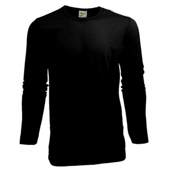 Stretch shirt zwart heren longsleeve (bron: Shirtszone)