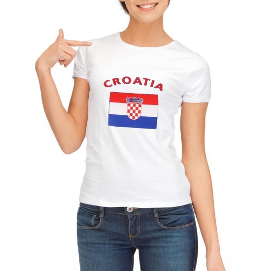T-shirt met vlag Kroatische print voor dames