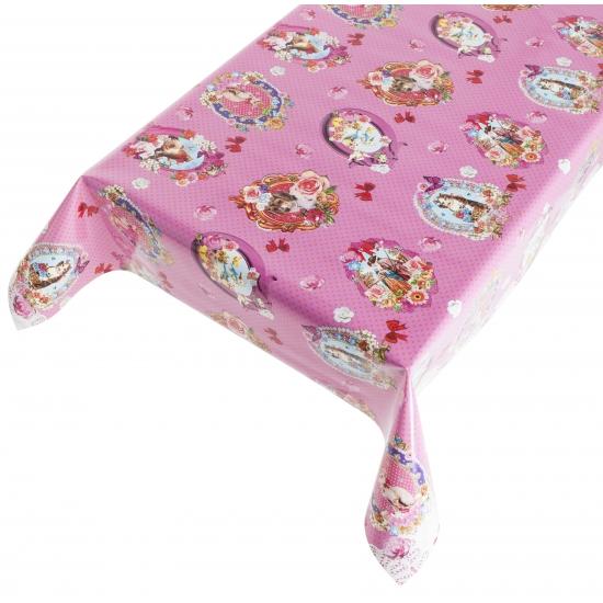 Tafelkleed PVC kitch roze 140 x 240 cm