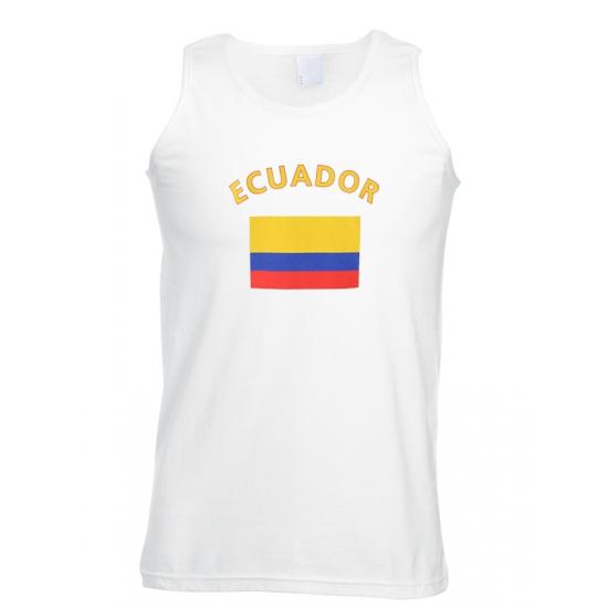 Tanktop met vlag Ecuador print